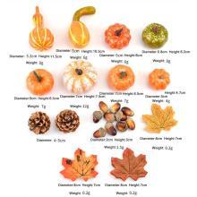 50pcs/set Halloween Pumpkins Decorations Artificial Fake Pumpkin Harvest Props Faux Fall Autumn Decors Foam