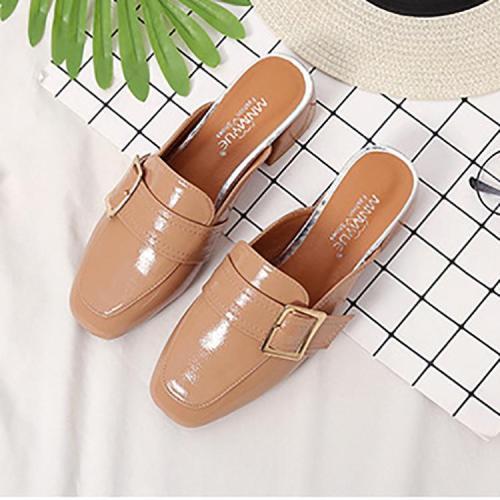 Fashion Pure Color Mueller Shoes
