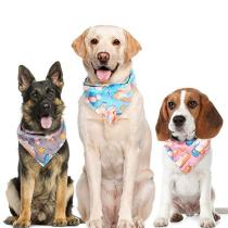 Dog Bandanas Cotton Cute Unicorn Reversible Scarfs Pet Bibs Puppies Kerchief Suitable for Small to Large Dogs and Cats