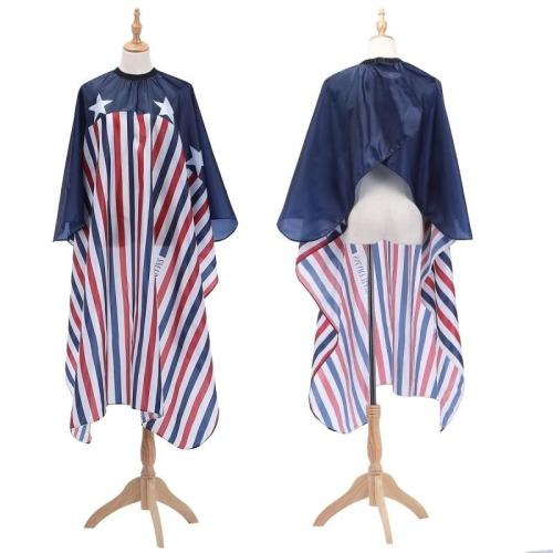 New Haircut Cloth Hairdressing Barber Cloth American Flag Pattern Apron Polyester Hair Cape Styling Design Supplies Salon Gown