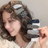 1Pcs Women Shining Crystal Rhinestone Hairpins Barrettes Girl Kids Cute Geometric Hair Clips Seed Beads Hairgrip Hair Accessorie