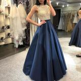 Sleeveless Gilt Slim Evening Dress
