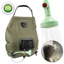 Outdoor Solar Shower Bag Durable Camping Water Bags Portable Sun Compact Heated Practical Large Capacity Outdoor Solar Bath Bag