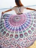 Romantic Summer Rectangle Shawl Beach Mat Yoga Mat
