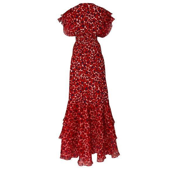 Women's V-Neck Sleeveless Print Dress
