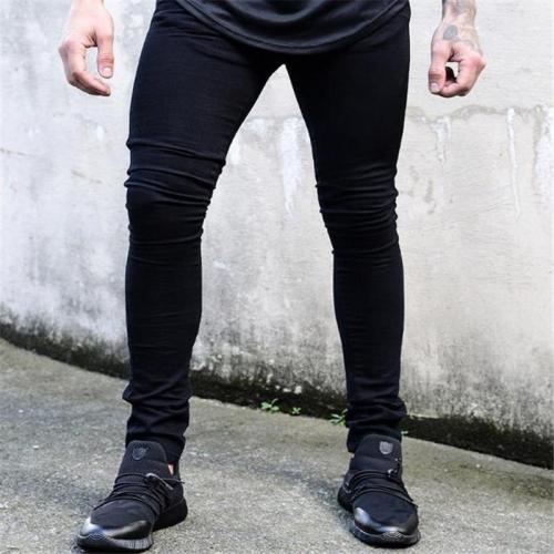 Fashion Youth Casual Daily Life Plain Denim Long Pants