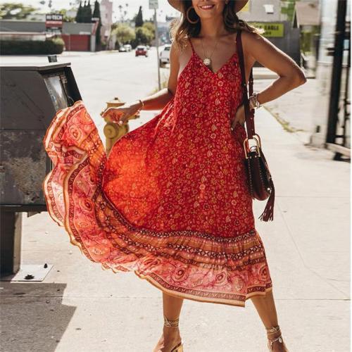 New Breathable Ruffled Strap Casual Maxi Dress