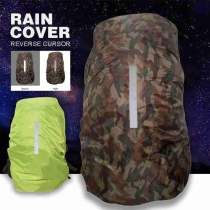 1pc Backpack Rain Cover Outdoor Night Travel Safety Reflective Raincover Waterproof Dustproof Outdoor Climbing Bag Protect Cover