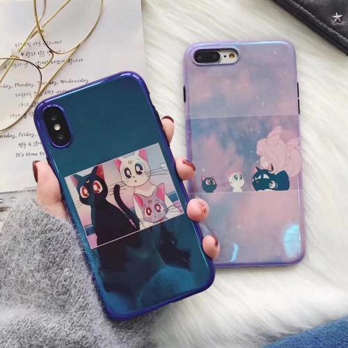 Blue-Ray Japanese Anime Cartoon Sailor Moon Luna Cat Phone Case