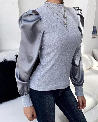 Mock Neck Long Sleeve Sweatshirt