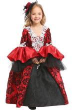 Little Girls Halloween Vampire Cosplay Costume Retro Royal Dress For Kids