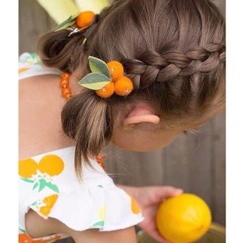 2020 Children's Headdress Spring New Ins Auspicious Small Orange Ball Wool Felt Beautiful Clip Girl And Woman Hair Clip