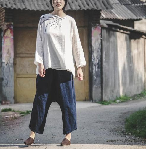 Zen Cotton Linen Pants With Pockets