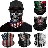Independence day Skull Seamless Balaclava Magic Scarf Heaewear Outdoor Sports Bandanas Men Cycling Hiking Mask Neck Gaiter June1