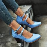 Women Buckle Strap High Heel Sandals