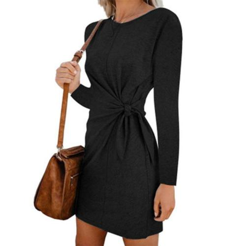 New Casual Women Pregnant Clothes Long-sleeved Maternity O-neck Irregular Dresses Solid Color Sexy Autumn Mother Pregnancy Dress