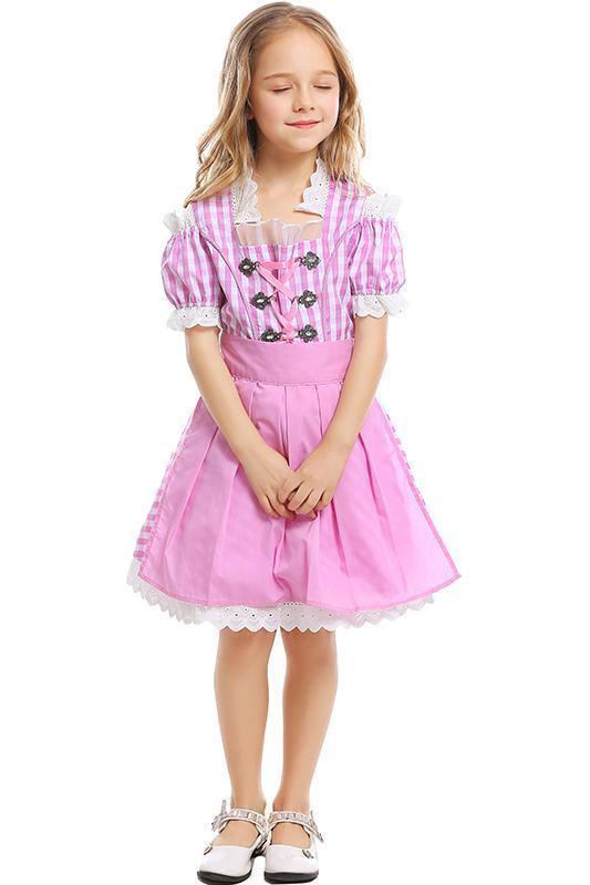 Little Girls Halloween Cosplay Costume Beer Festival Waitress Uniform For Kids