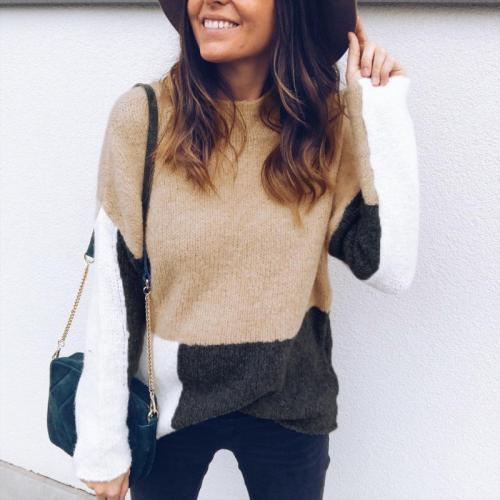 Casual High Neck   Matching Long Sleeve Knitted Sweater