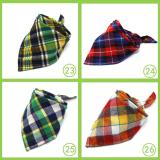 Dog Bandana Washable Reversible Triangular Plaid Adjustable Cat Puppy Pet Scarf Kerchief Accessories Fit Small Medium Large Dogs