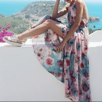 Classy Printed Bare Back Dress