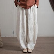 Japanese Zen Cotton Linen Palazzo Pants