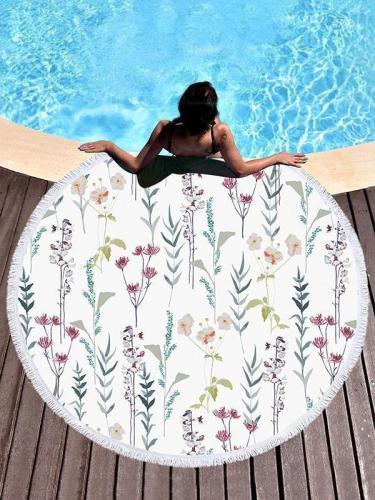 Flower Printed Chic Simple Elegant Beach Mats