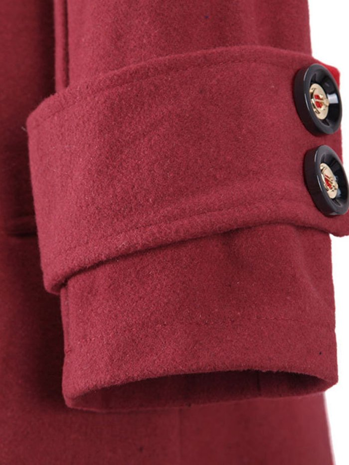1950s Solid Long Sleeve Coat