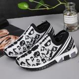 EBUYTIDE Trendy Casual Wild Leopard Slip On Sneakers