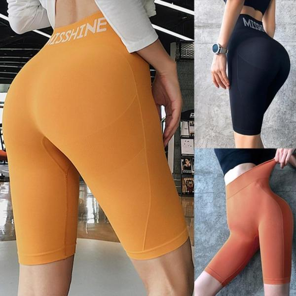 Gym Sports Shorts Women High Waist Energy Seamless Yoga Shorts Push Up Hip Gym Shorts Fitness Sports Leggings