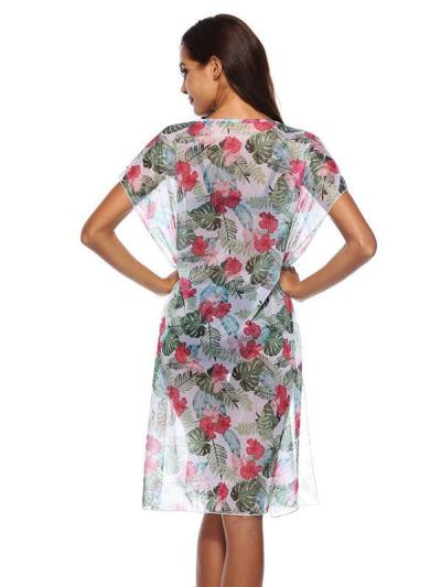 Round Neck Bandage See-through Cover-ups