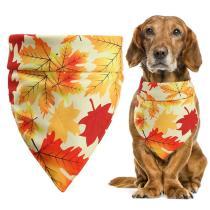 1PCS Thanksgiving Pet Bandana Decorative Maple Leaf Pet Bib Triangle Bandana Bib for Dogs Cats