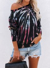 Abstract Tie-dye Long Sleeve Sweatshirt