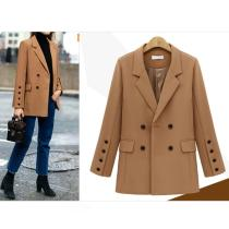 2020 Fashion Autumn Women Blazers And jackets Work Office Lady Suit Loose Long Sleeve Button Business Female Casual Blazer Coat