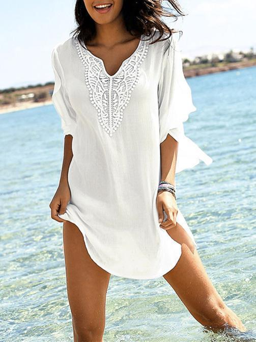 Chiffon Split-joint Loose Cover-up