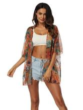 Chiffon Beach Short Sleeves Cover-Ups