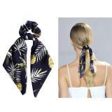2020 New Arrival DIY Bow Streamers Pineapple Flower Print Hair Scrunchies Ribbon Hair Rope Ties Women Girls Bohemian Hair Bands