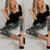 Fashion Sequins Pure Color Trim Thin Underpants
