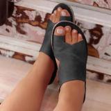 Pairmore Solid Color Women Toe Sandals