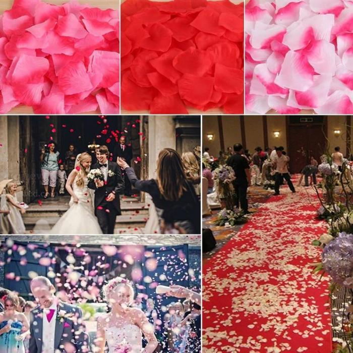 100piece/lot 5*5cm Artificial Flowers Simulation Rose Petals Decorations Wedding Marriage Room Fashion Rose Flowers