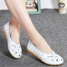 Comfort Genuine Leather Flat Shoes Woman Loafers Ballet Shoes