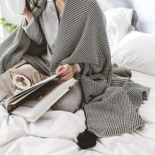 2020 Home Decoration Nordic Style Cotton Knitted Blanket Striped Throw Blankets for Sofa Bed Cover Plaids Bedspreads koc narzuta