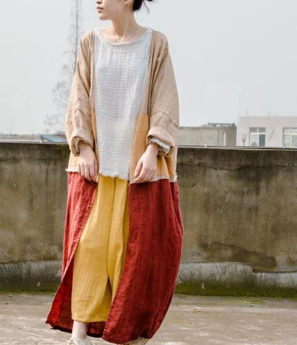 Casual Loose Wide Leg Linen Pants | Lotus