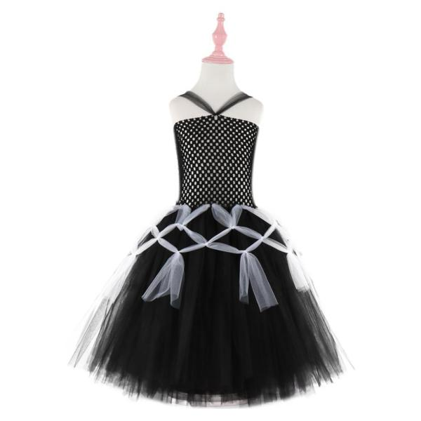 Girls Tutu Dress Black Tulle Evening Wedding Birthday Party Dresses for Kids Ball Gown