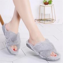 Winter women indoor slippers home shoes fur slippers warm shoes woman house slippers ladies slip on flats