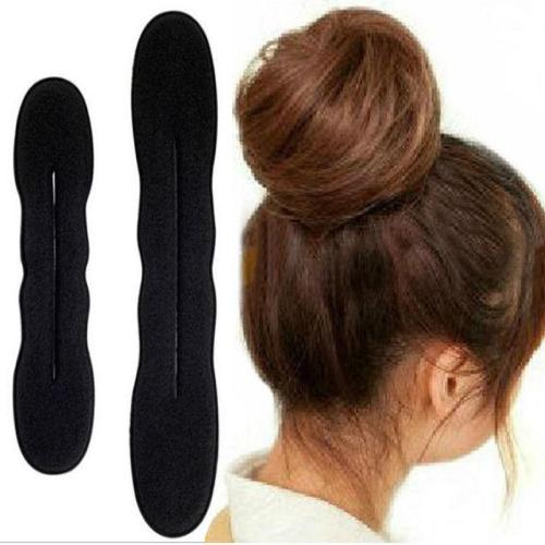 2 Pc (One Big another is Smal) Hair Styling Magic Sponge Clip Foam Bun Curler Hairstyle Twist Maker Tool Hot Sale spda1a96