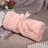 Pink Blanket Summer Air Conditioning Blanket Children Nap Quilt Travel Double Cover Blanket Flannel Blanket Hand Wash Home