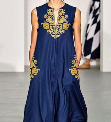 Casual V-Neck Cotton/Linen Printed Casual Maxi Dress