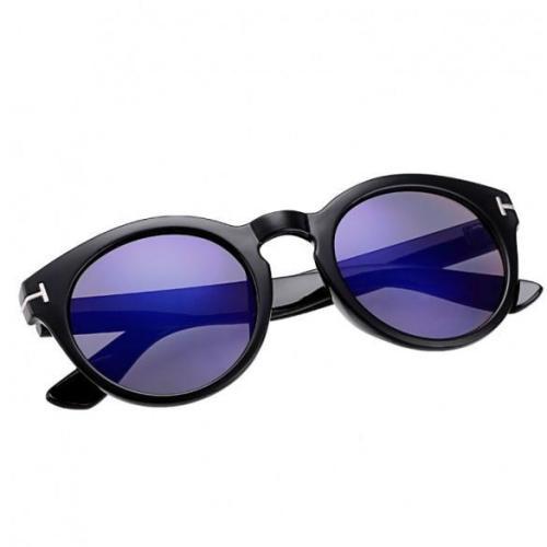 Unisex Vintage Style Round Frame Big Lens Eyewear Shades Sunglasses