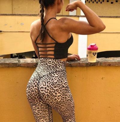 Leopard Print High-Waisted Hip Yoga Leggings