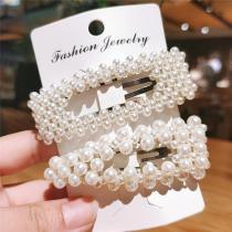 2020 New Korea Style Pearl Hair Clip for Women Girls Barrette Stick Headwear Elegant Wedding Hairpins Hair Accessories